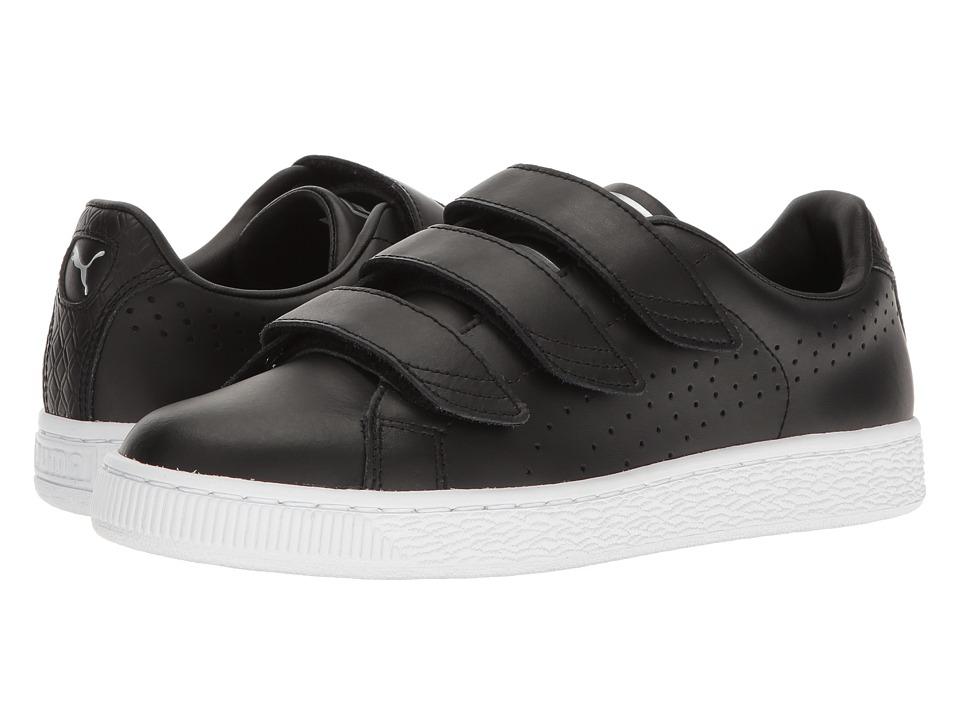 PUMA - Basket Classic Strap BW (Quarry/Puma Silver) Men's Shoes