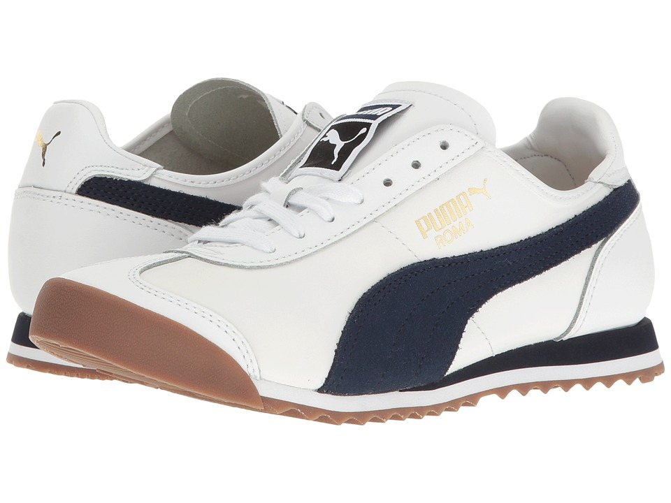 PUMA - Roma OG 80s (PUMA White/Peacoat) Men's Shoes