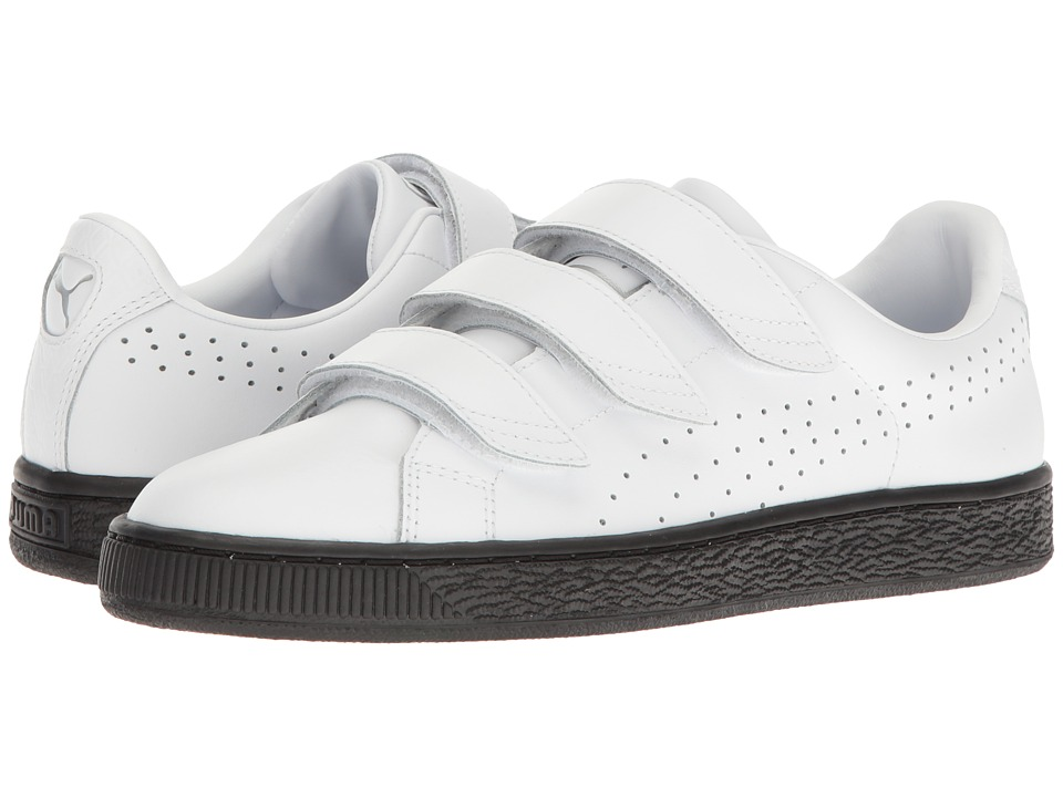 PUMA - Basket Classic Strap BW (Puma White/Puma Black) Men's Shoes
