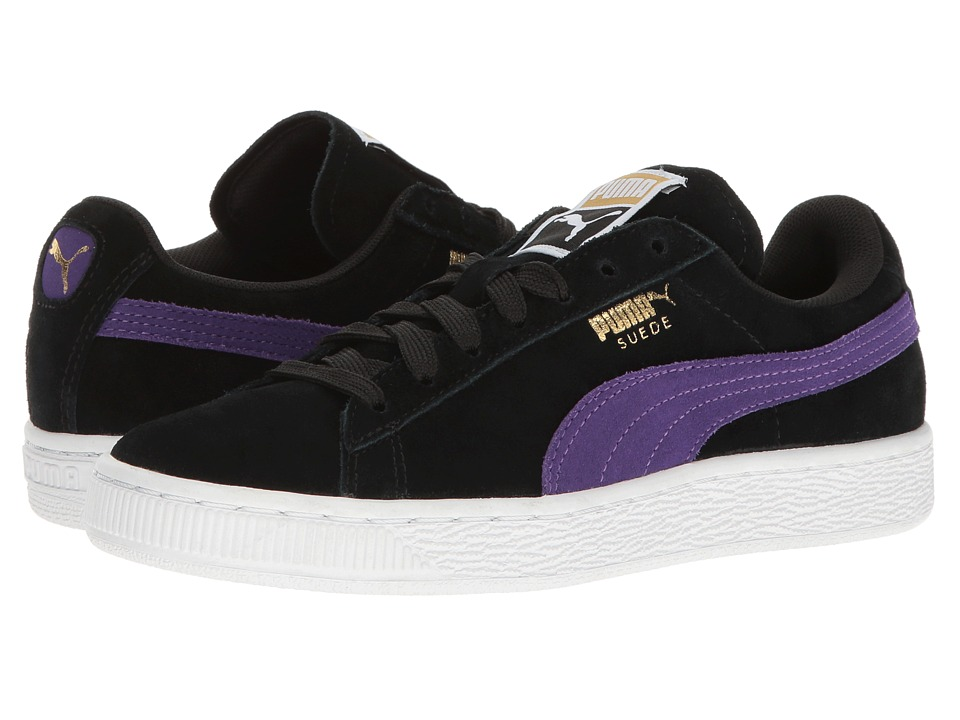 PUMA - Suede Classic (Puma Black/Royal Purple) Women's Shoes