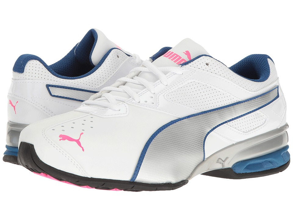 PUMA - Tazon 6 Wide FM (Puma White/Puma Silver/Knockout Pink) Women's Shoes