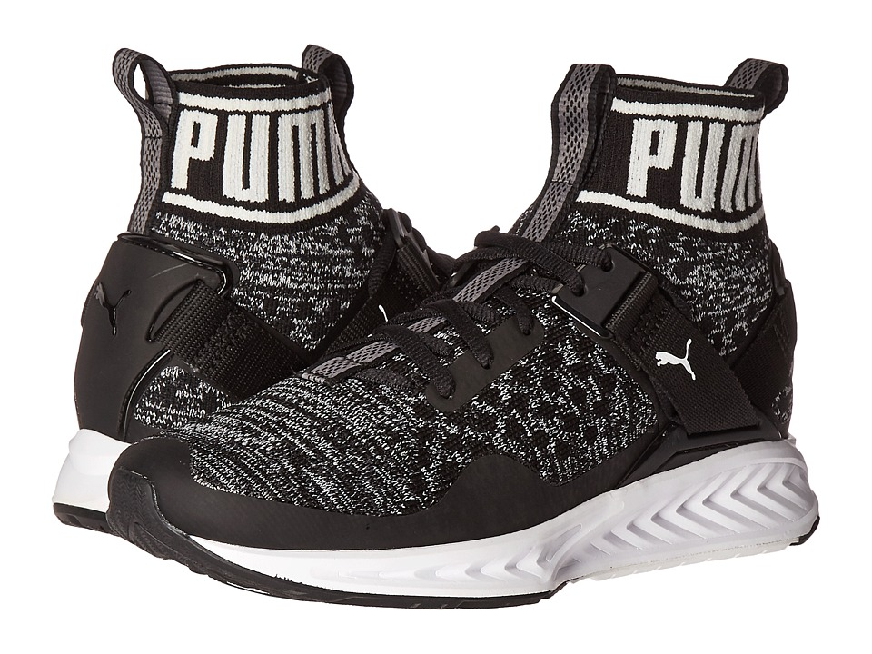 PUMA - Ignite evoKNIT (Puma Black/Quiet Shade/Puma White) Women's Running Shoes