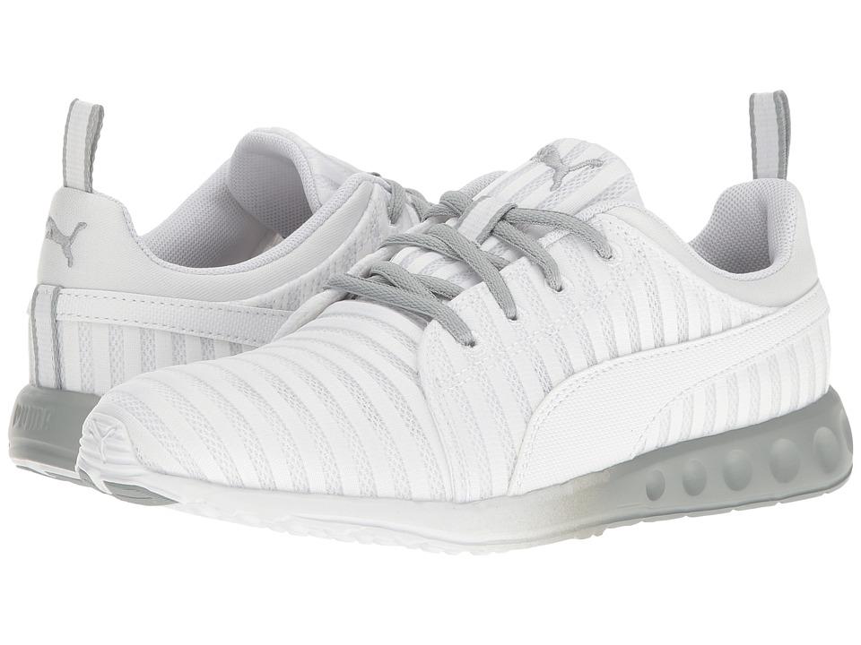 PUMA - Carson Linear (Puma White/Quarry) Women's Shoes