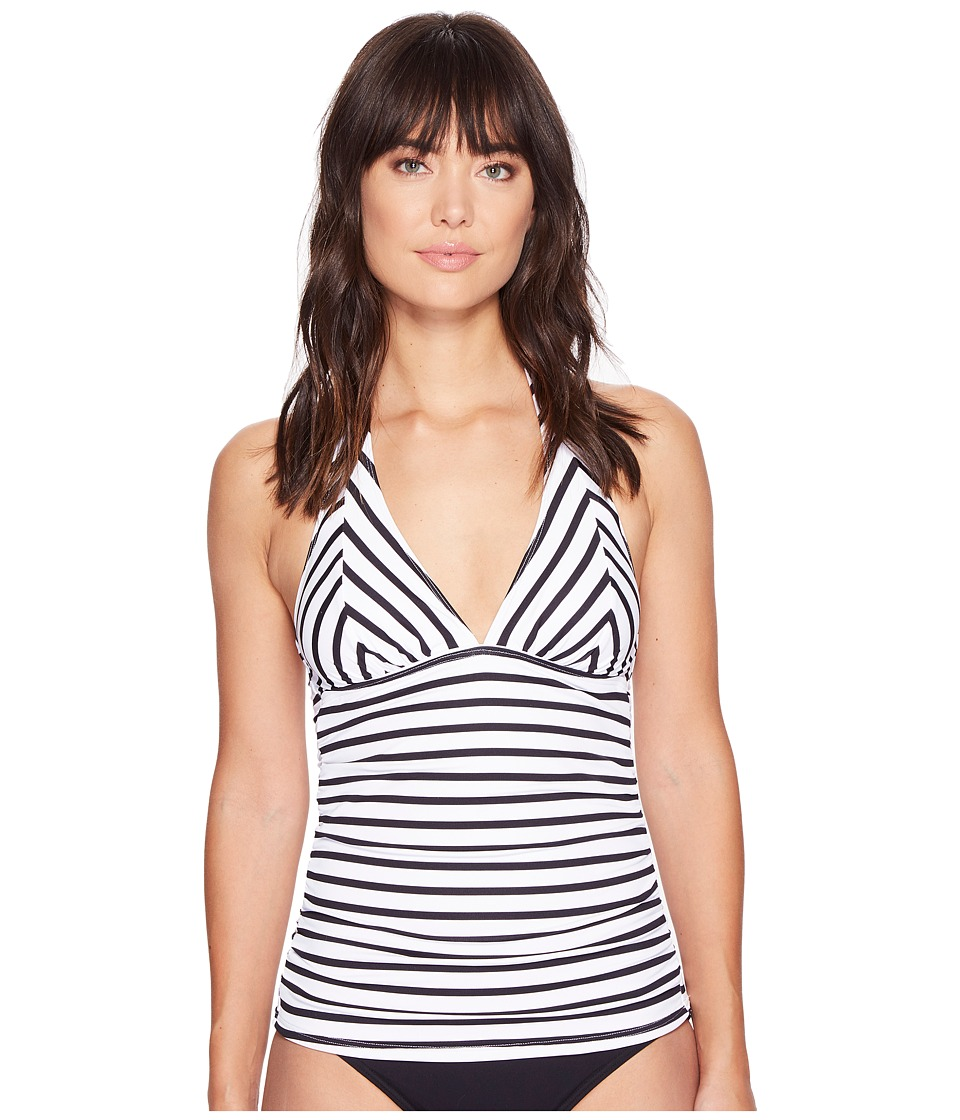 Tommy Bahama - Channel Surfing Halter Tankini (Black) Women's Swimwear