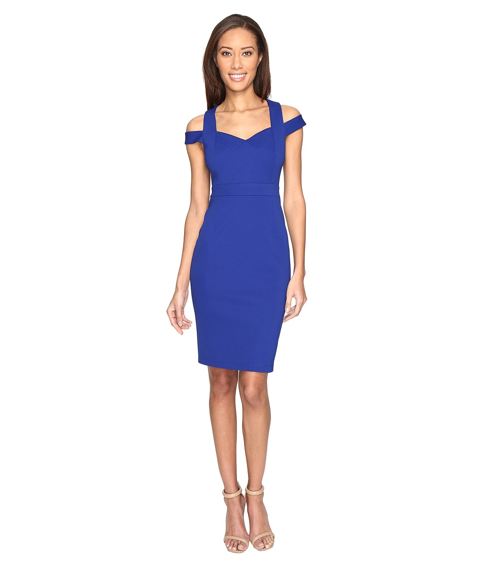 Adrianna Papell - Shoulder C Detail Fitted Dress (Iris) Women's Dress