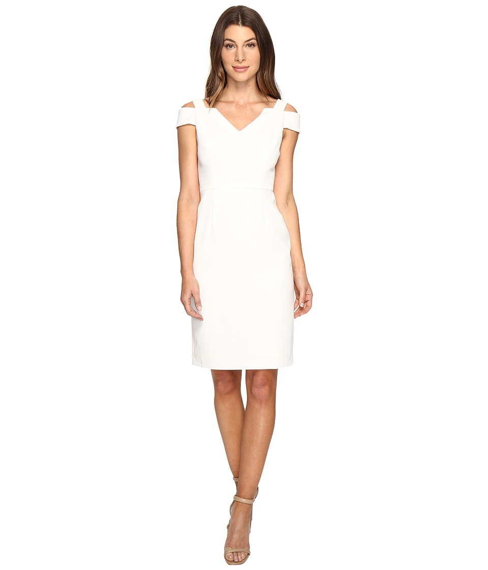 Adrianna Papell Cold Shoulder Fitted Sheath (Ivory) Women