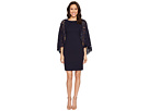 Adrianna Papell - Cynthia Lace Cape Sheath Dress