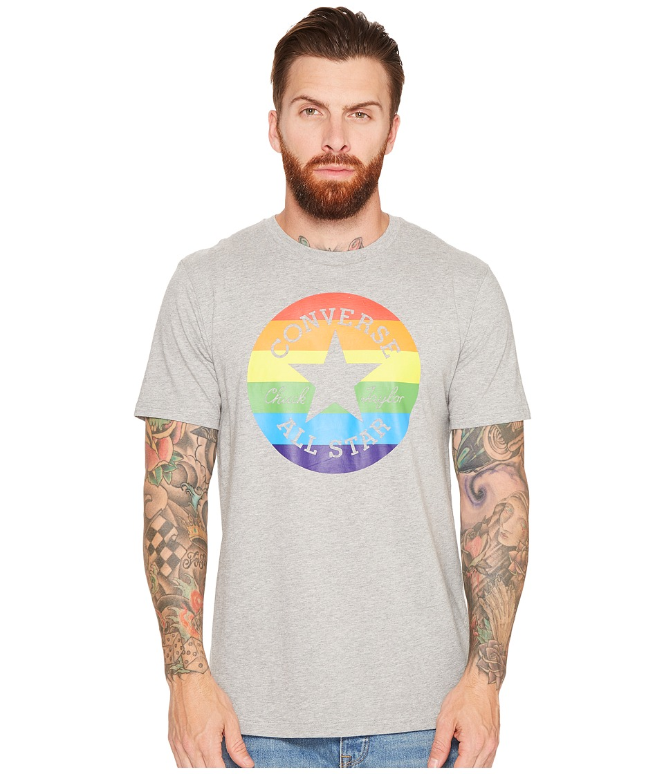 Converse - Pride Chuck Patch Rainbow Tee (Vintage Grey Heather) Men's T Shirt