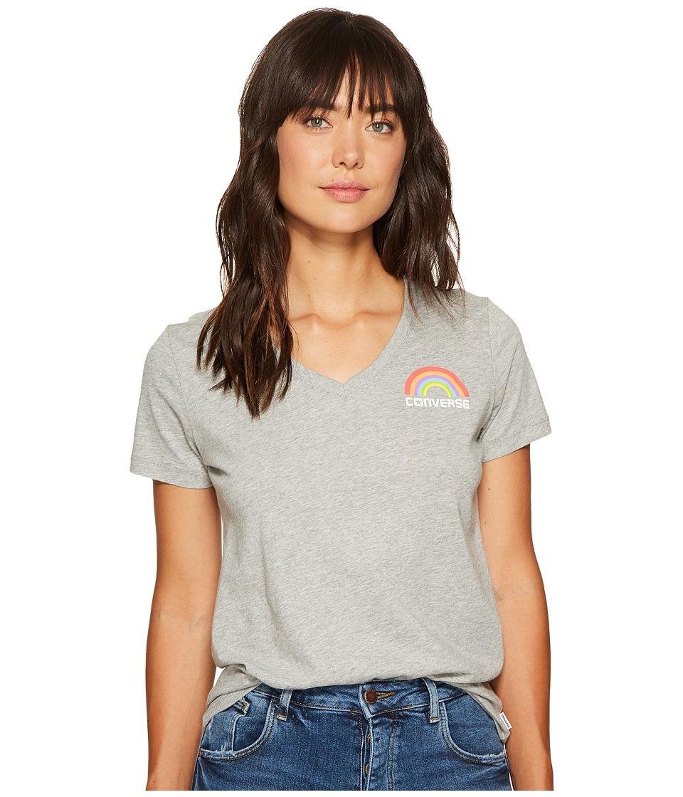 Converse - Pride Rainbow Tee (Vintage Grey Heather) Women's T Shirt