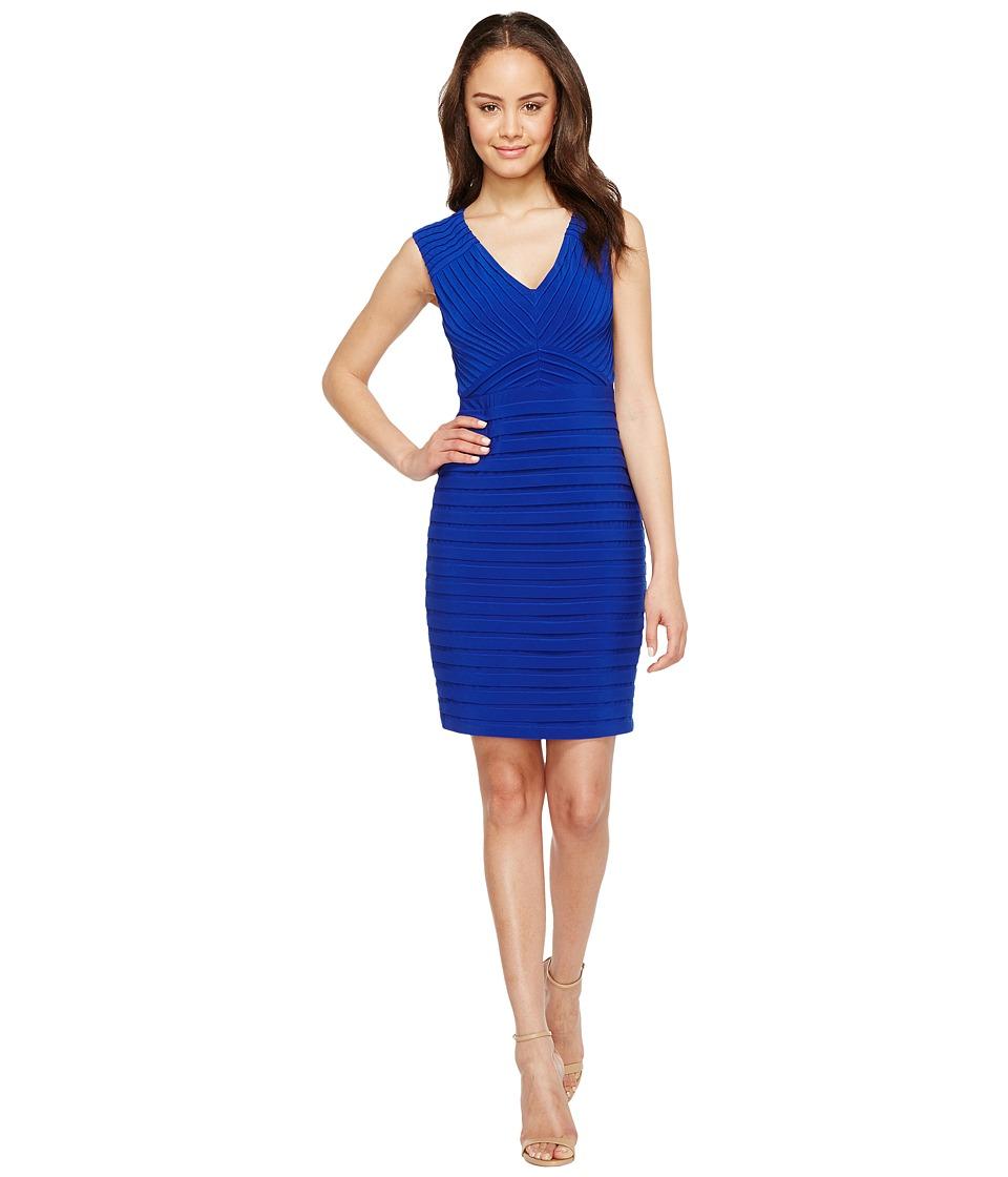 Adrianna Papell Matte Jersey Banded Sheath Dress (Ultramarine) Women