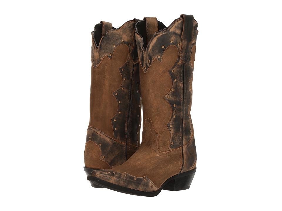 Laredo Lindsey (Sanded Tan/Black Canbara) Cowboy Boots