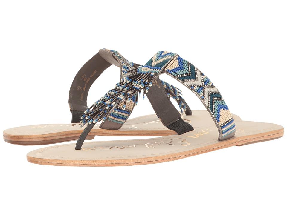 Sam Edelman - Anella (Blue/White Leather w/ Beading) Women's 1-2 inch heel Shoes