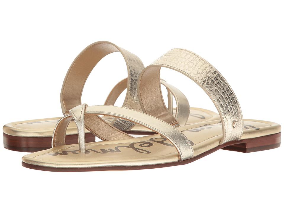 Sam Edelman - Bernice (Jute Mini Croco Metallic/Polished Metallic Leather) Women's 1-2 inch heel Shoes