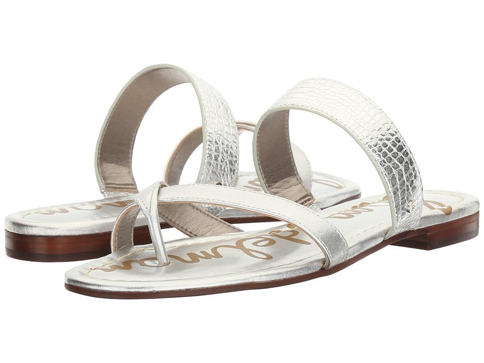 Sam Edelman - Bernice (Soft Silver Mini Croco Metallic/Polished Metallic Leather) Women's 1-2 inch heel Shoes