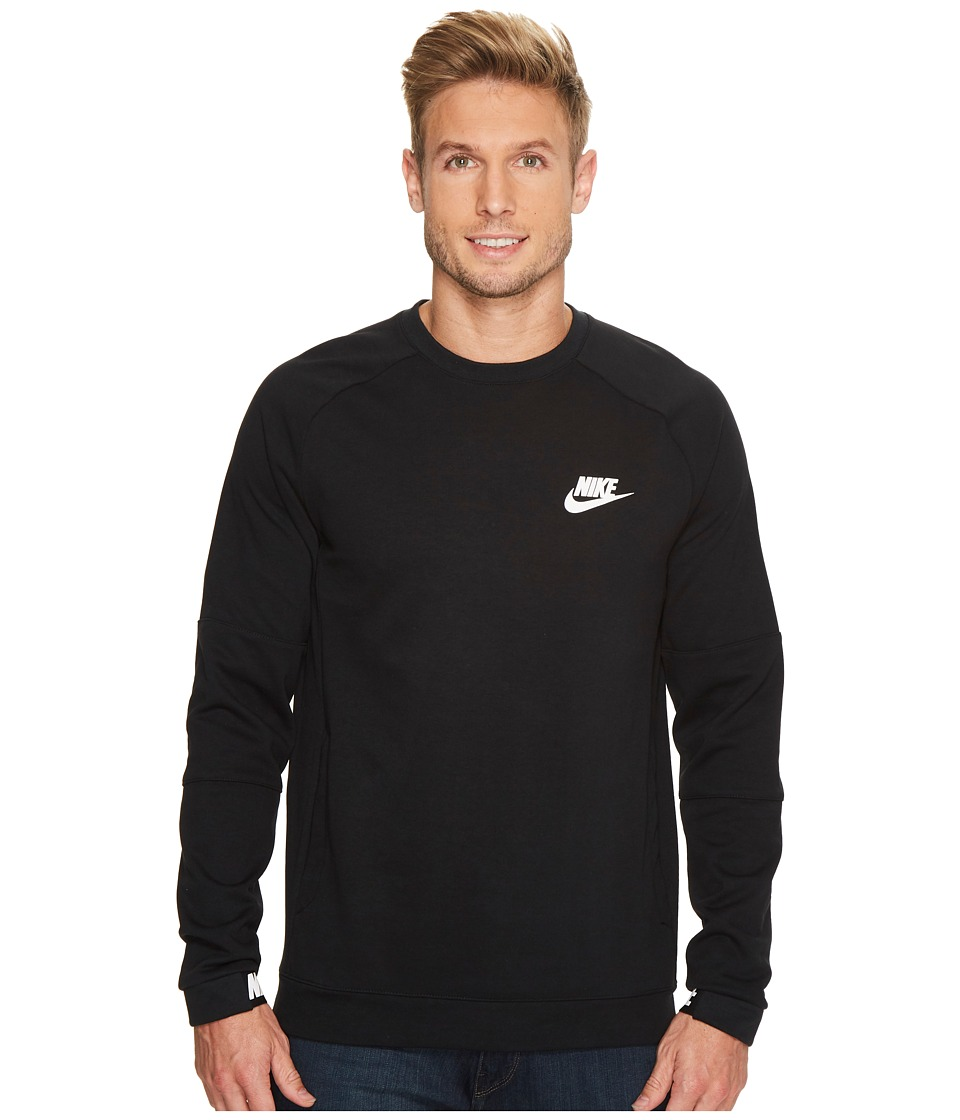 Nike Sportswear Advance 15 Crew (Black/Black/White) Men