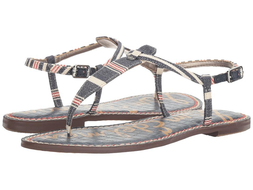 Sam Edelman - Gigi (Blue Multi Large Americana Stripe Print) Women's Sandals
