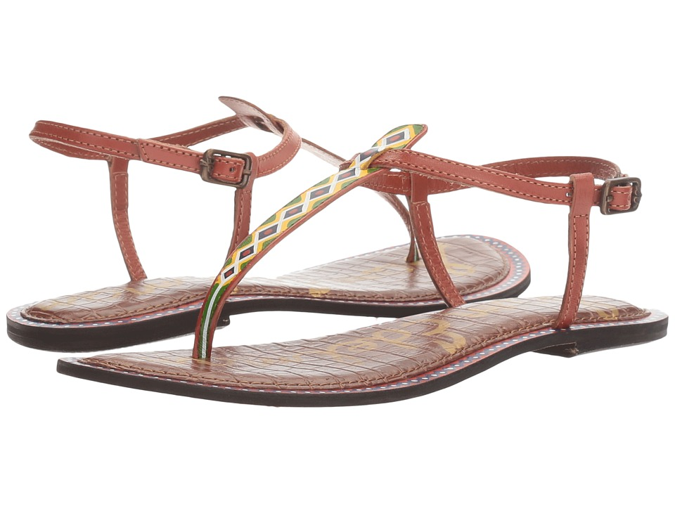 Sam Edelman - Gigi 6 (Saddle Painted Tribal Diamond Leather) Women's 1-2 inch heel Shoes