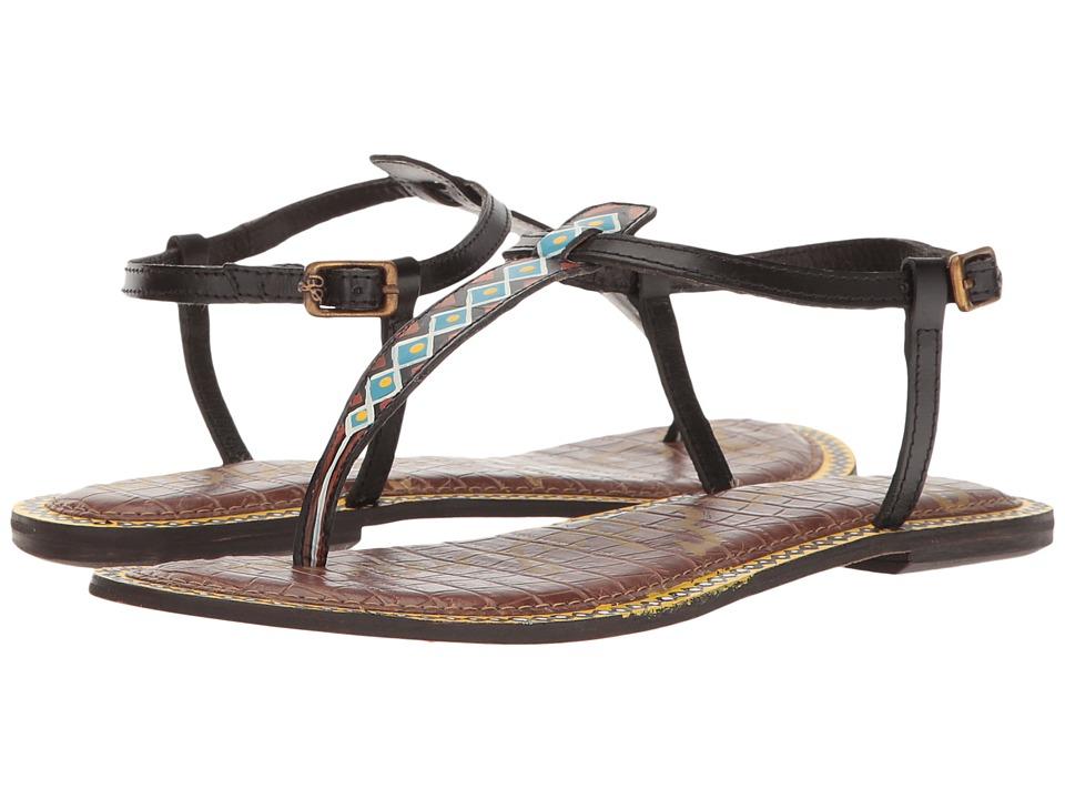Sam Edelman - Gigi 6 (Black Painted Tribal Diamond Leather) Women's 1-2 inch heel Shoes