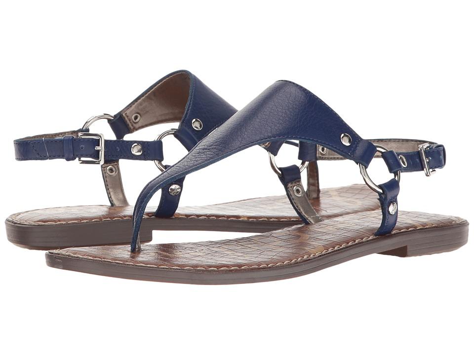 Sam Edelman - Greta (Nautical Blue Neymar Tumbled Leather) Women's Sandals