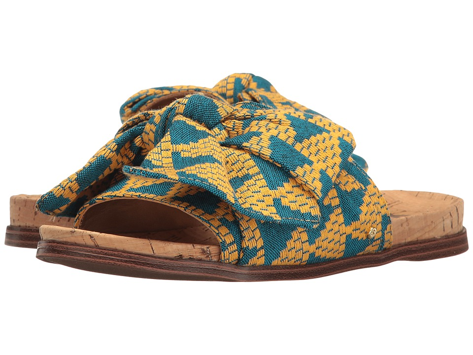 Sam Edelman - Henna (Yellow Multi Triangle Weave Fabric) Women's 1-2 inch heel Shoes