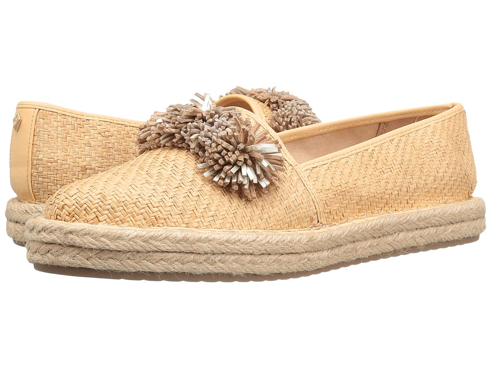 Sam Edelman - Issa (Natural/Molten Gold/Summer Sand Raffia) Women's 1-2 inch heel Shoes