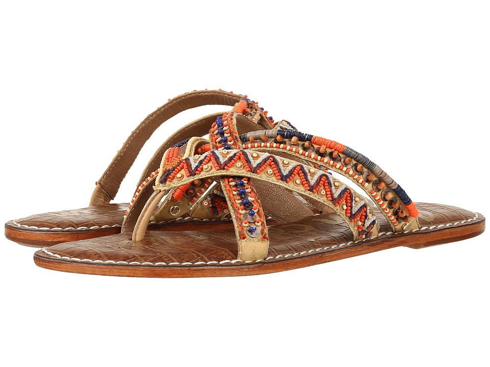 Sam Edelman - Karly (Orange Multi Cross Strap Beaded Fabric) Women's 1-2 inch heel Shoes