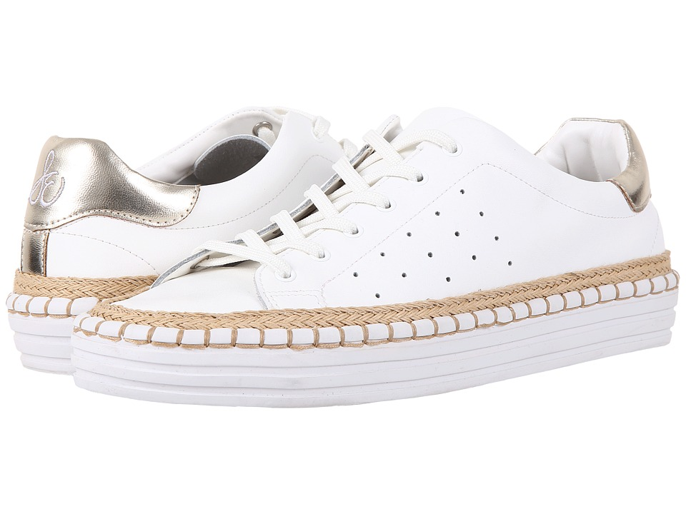 Sam Edelman - Kavi (Bright White Russell Soft Action Leather/Metallic Nappa) Women's 1-2 inch heel Shoes
