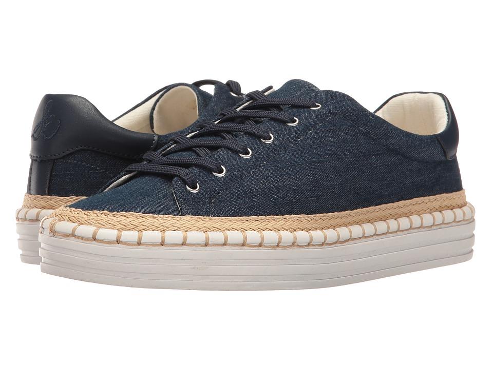 Sam Edelman - Kavi (Navy Denim Fabric/Navy Vaquero) Women's 1-2 inch heel Shoes