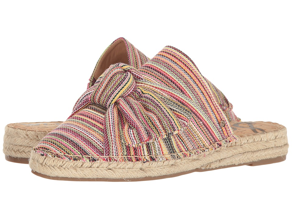 Sam Edelman - Lynda (Bright Multi Mini Woven Stripe Fabric) Women's Dress Sandals
