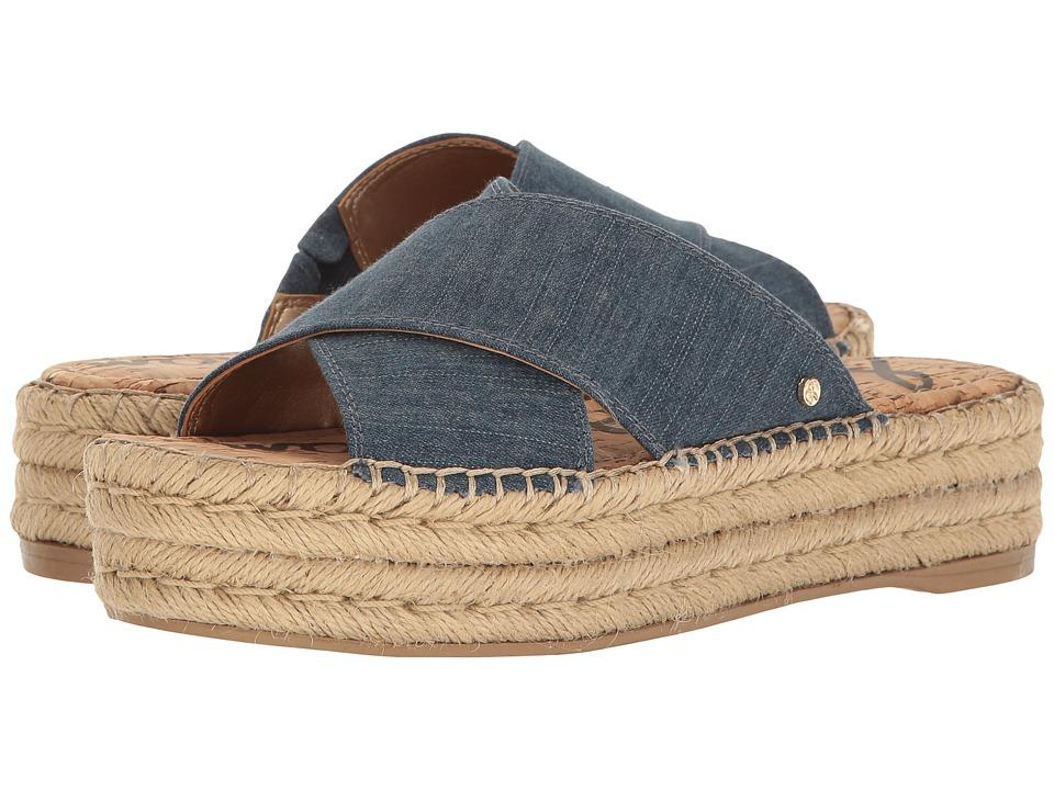 Sam Edelman - Natty (Navy Denim Fabric) Women's 1-2 inch heel Shoes