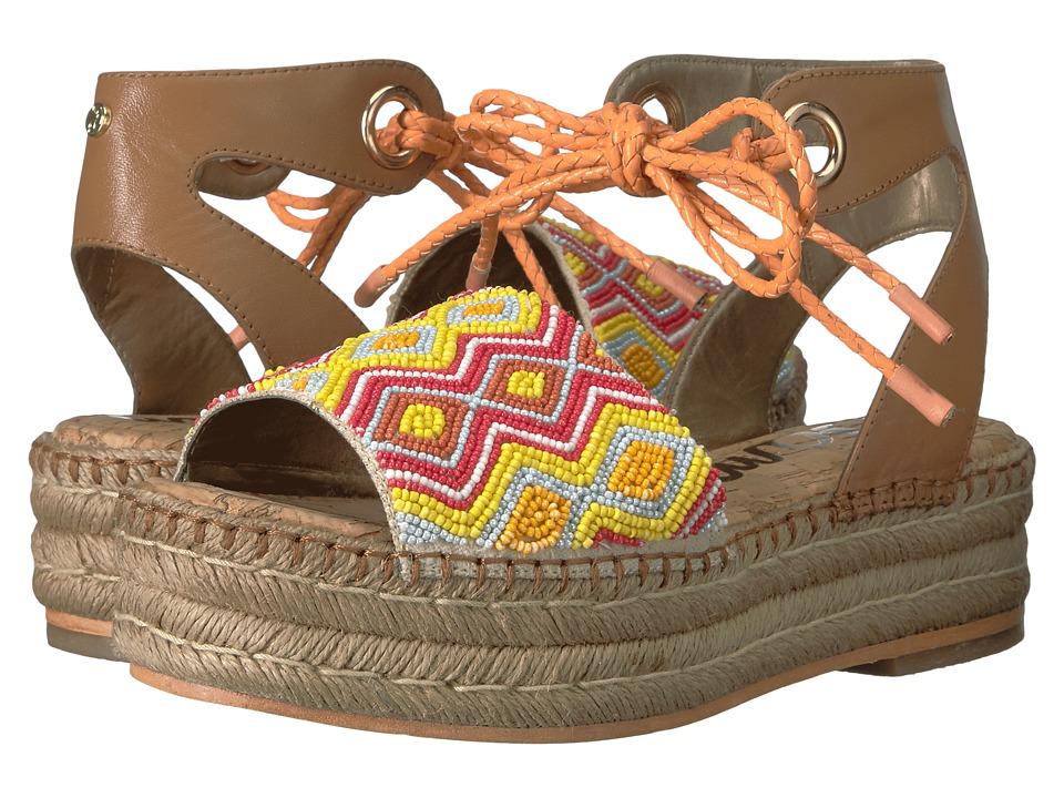 Sam Edelman Neera Saddle-Orange Multi Leather w- Beading 1-2 inch heel Shoes