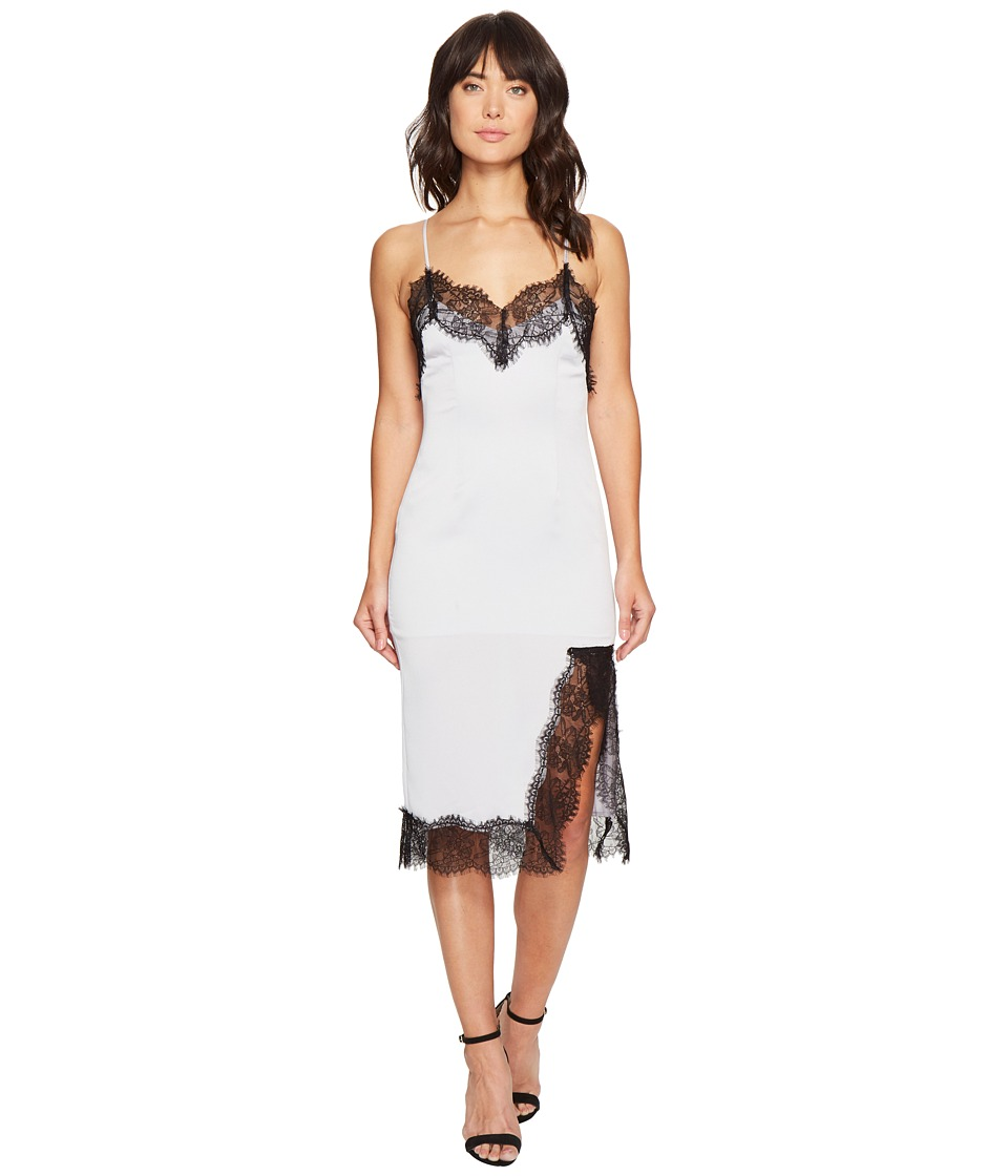 KEEPSAKE THE LABEL - Stop Me Lace Trim Dress (Pale Grey) Women's Dress