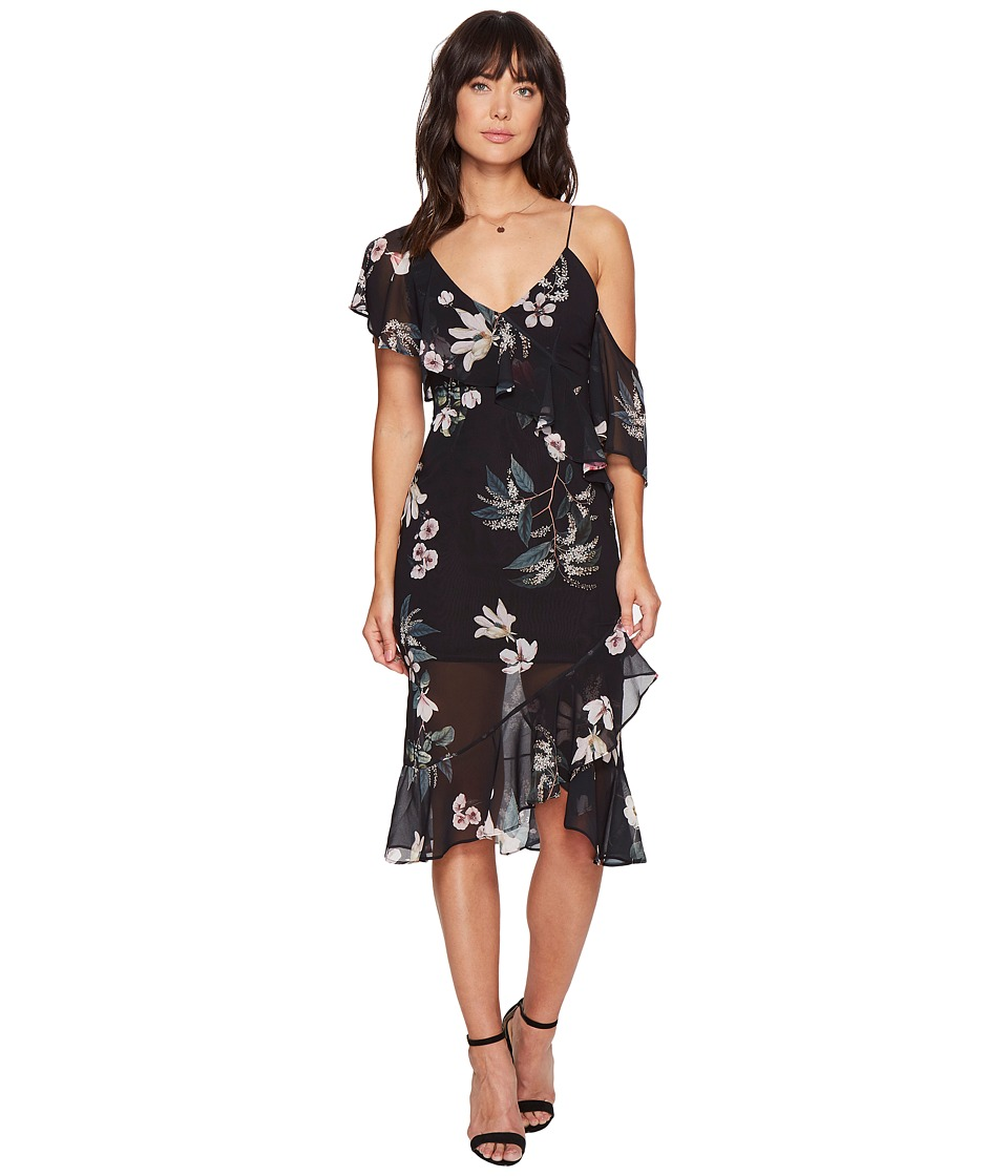 KEEPSAKE THE LABEL - Cosmic Girl Dress (Dark Garden Floral) Women's Dress
