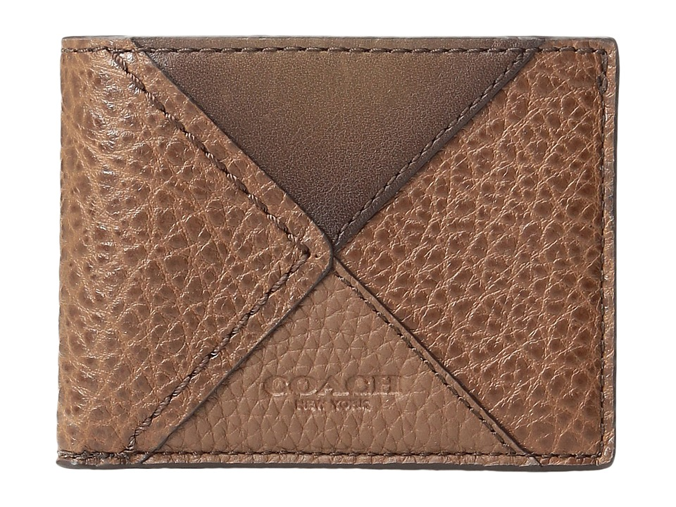 COACH - Canyon Quilt Slim Billfold (Dark Saddle Multi) Bill-fold Wallet