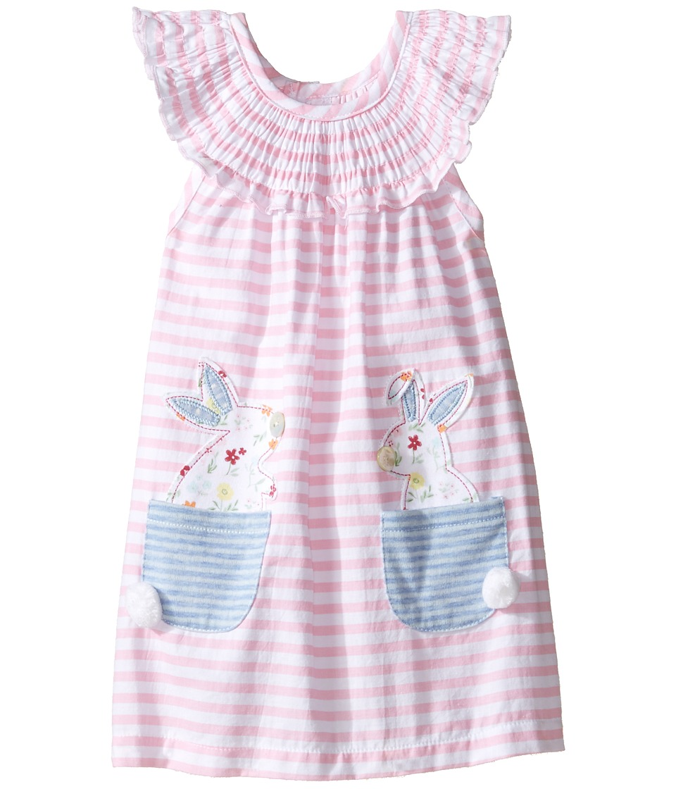 Mud Pie - Bunny Pocket Dress (Infant) (Pink) Girl's Dress
