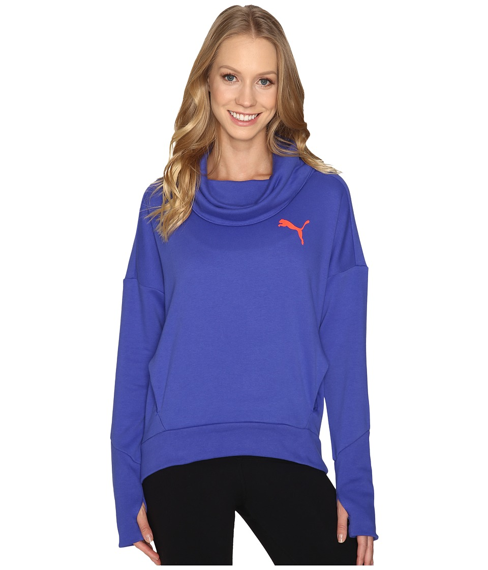 PUMA - Elevated Rollneck Sweat (Royal Blue) Women's Clothing