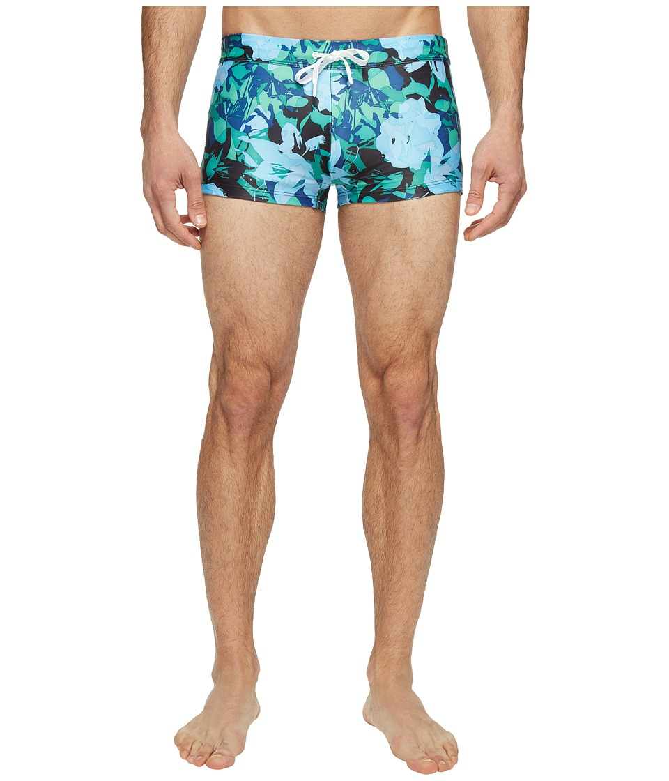 2(X)IST - Fashion Cabo - Floral (Abstract Floral/Aloe Green) Men's Swimwear