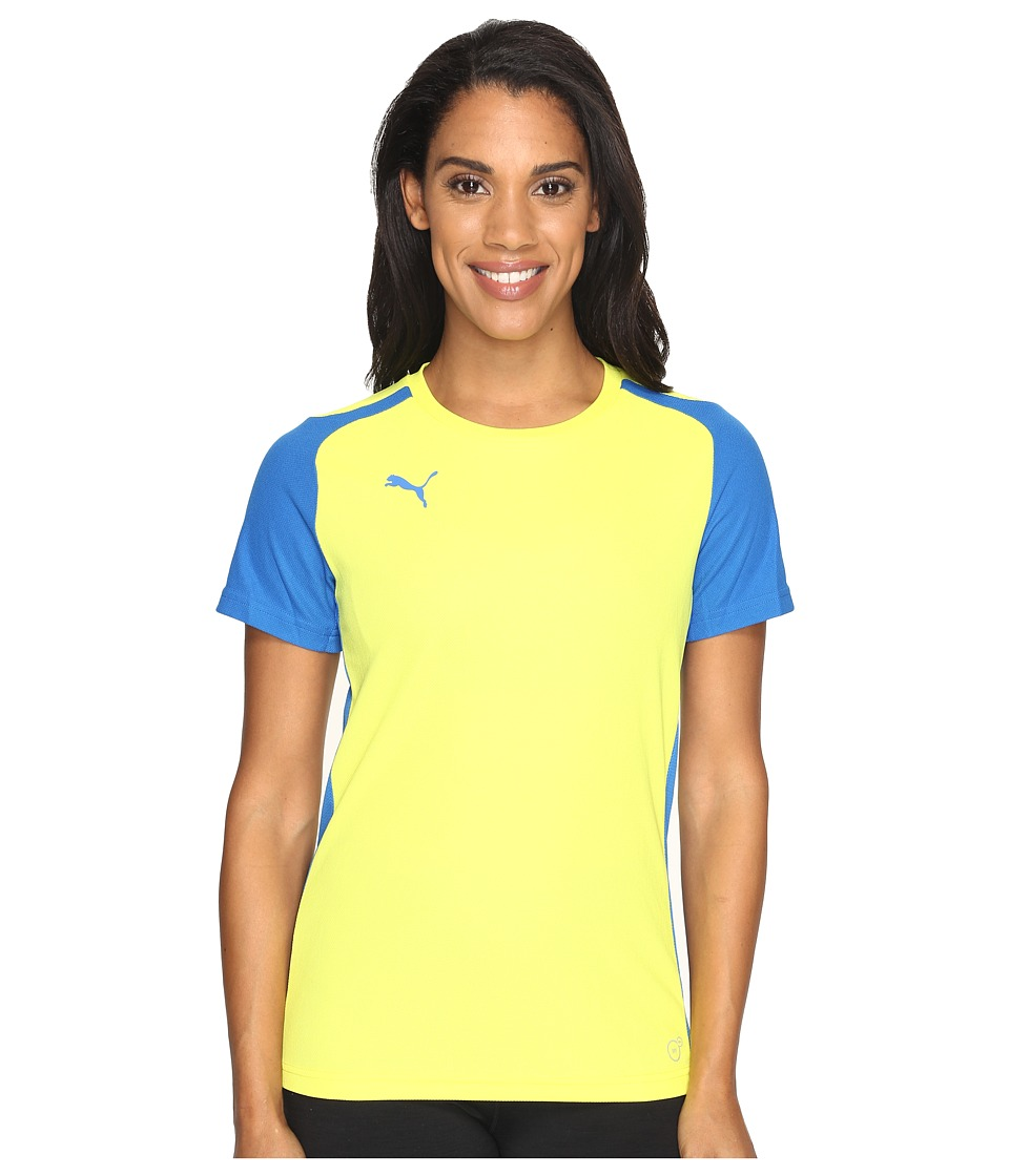 PUMA - Speed Jersey (Puma Royal/Fluro Yellow Japan) Women's Clothing