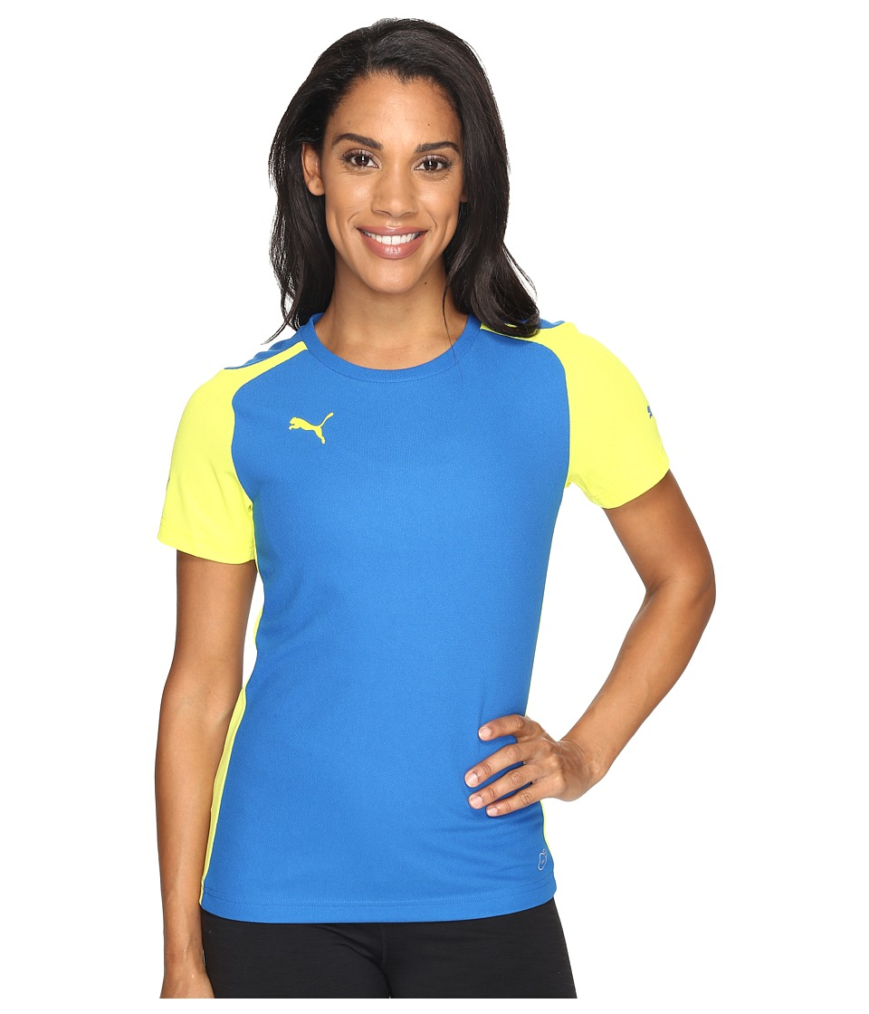 PUMA - Speed Jersey (Fluro Yellow Japan/Royal) Women's Clothing