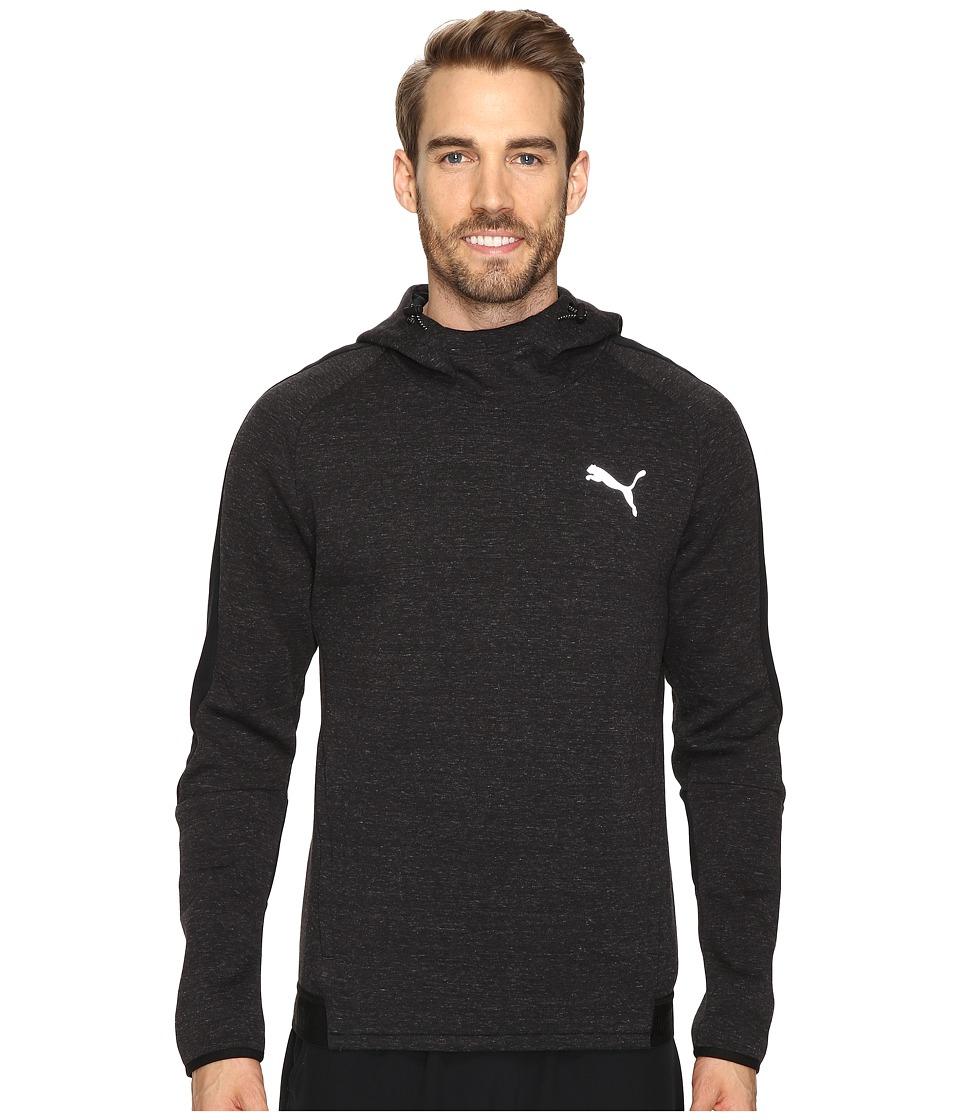PUMA - Evostripe Proknit Hoodie (Cotton Black Heather) Men's Sweatshirt