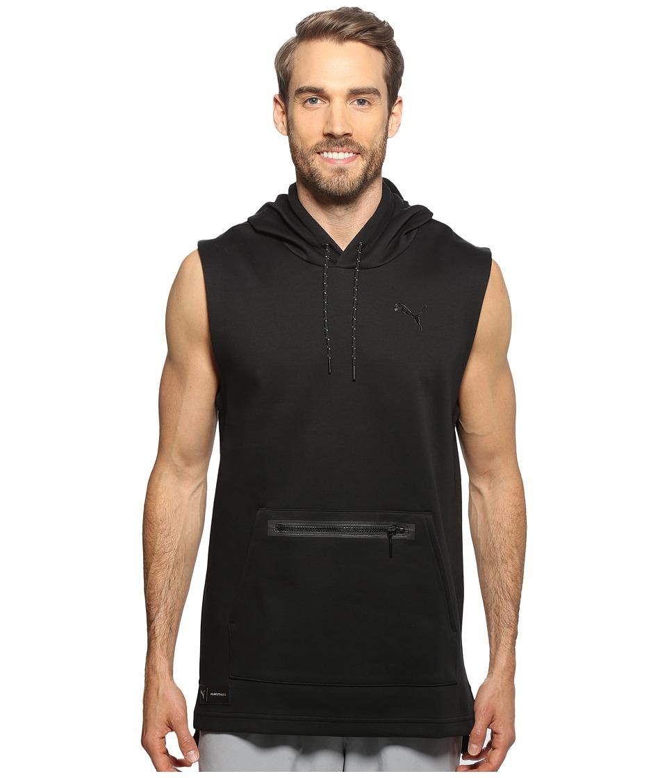 PUMA - Meek Sleeveless Hoodie (Black) Men's Sweatshirt