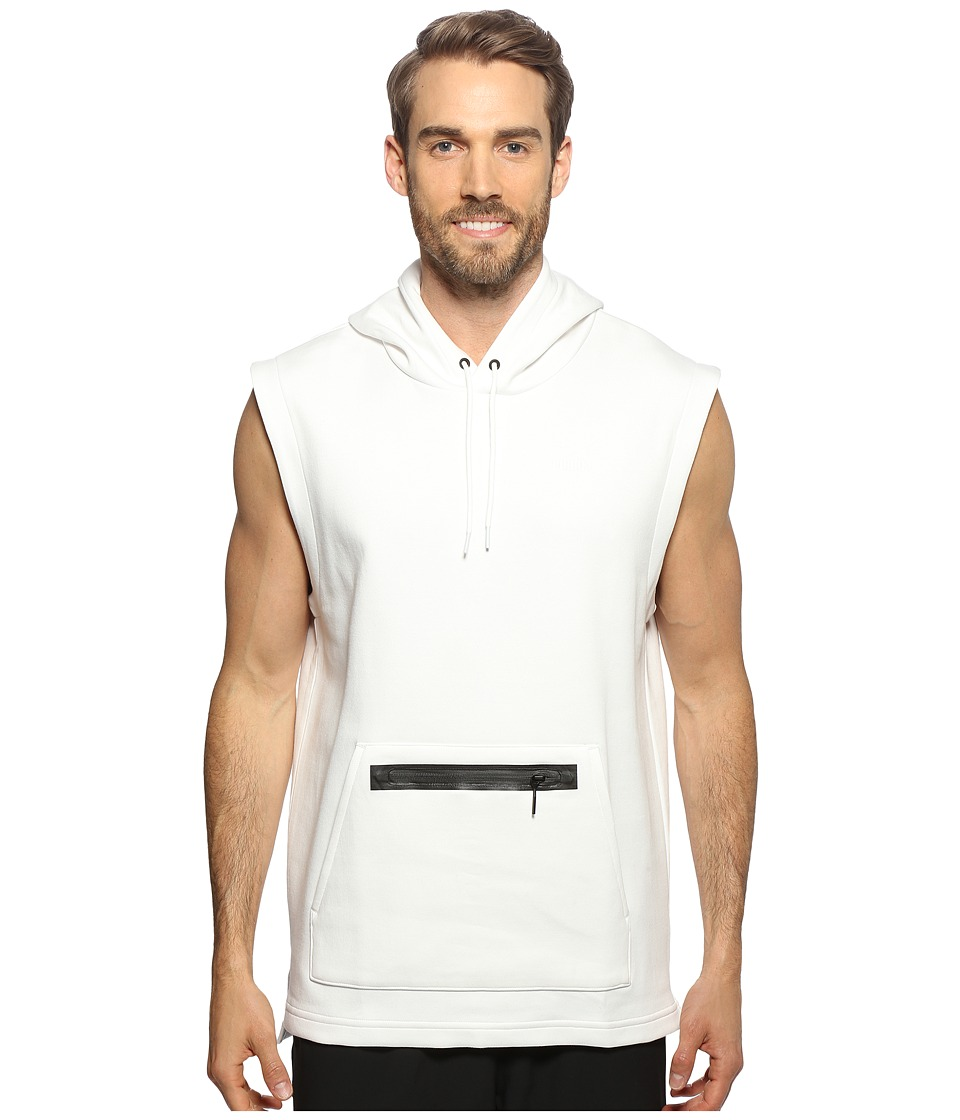 PUMA - Evo Sleeveless Hoodie (White) Men's Clothing