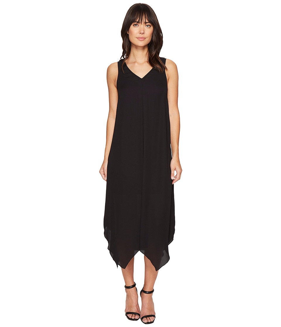 kensie Drapey Crepe Dress KS4K7684 (Black) Women