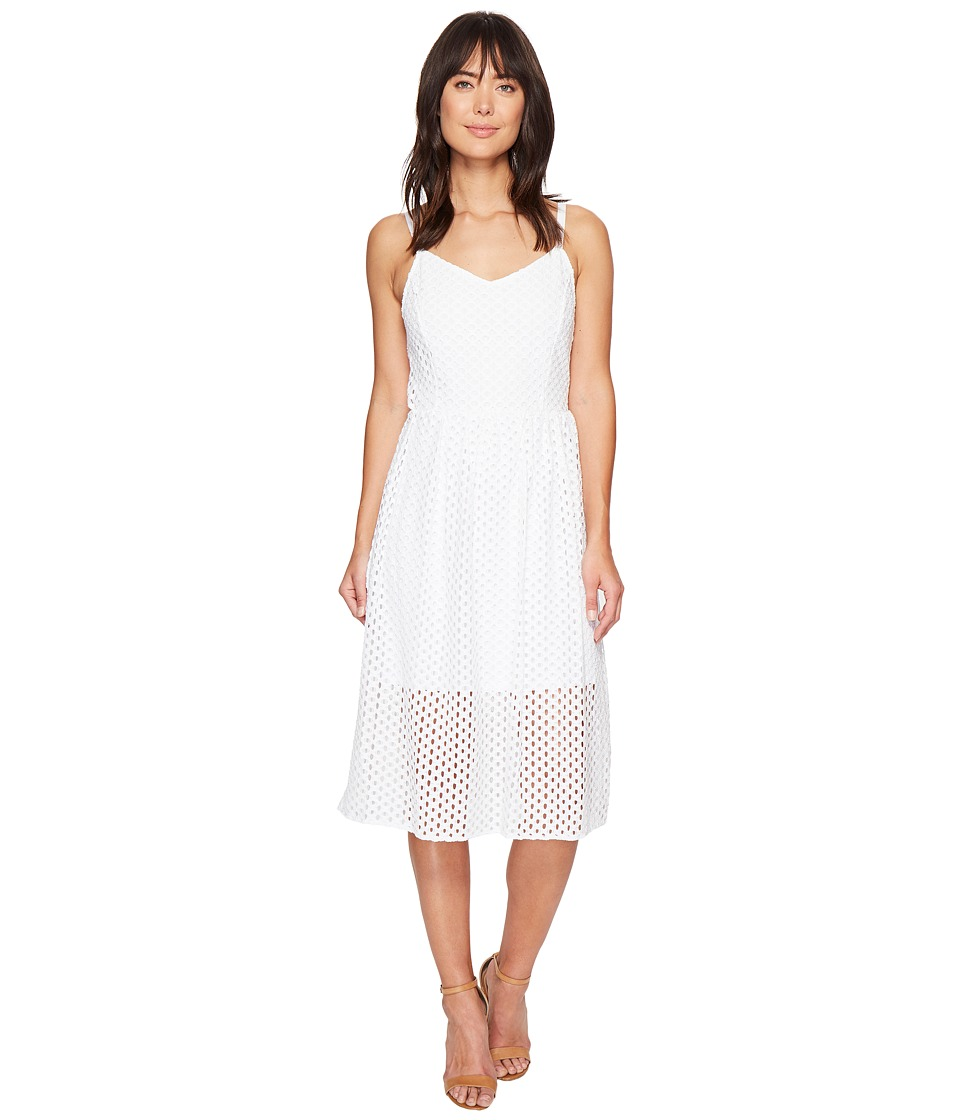kensie - Open Mech Lace Dress KS4K7686 (White) Women's Dress