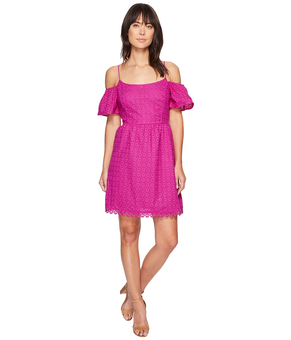 kensie - Eyelet Dots Dress KS4K7683 (Bright Purple) Women's Dress