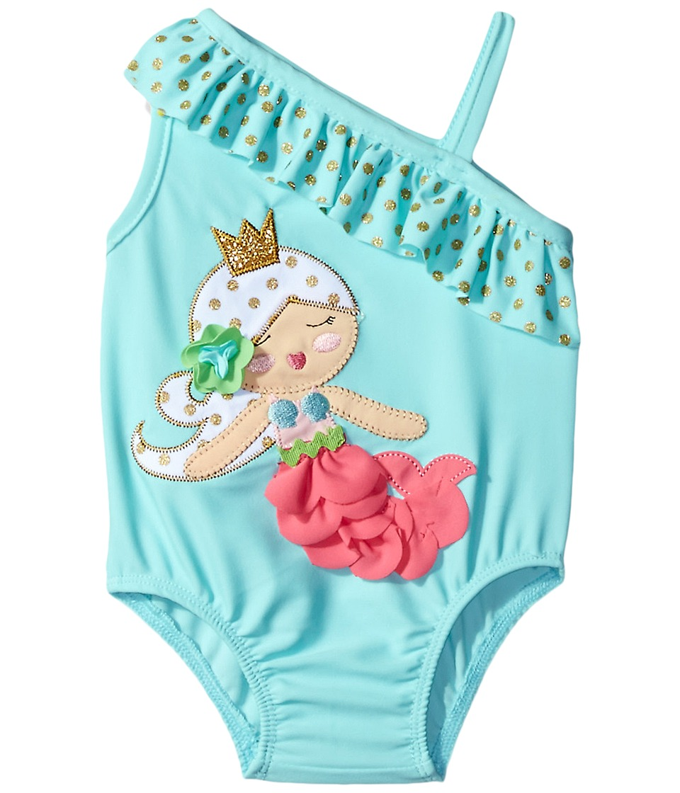 Mud Pie - Mermaid Swimsuit (Infant/Toddler) (Blue) Girl's Swimsuits One Piece