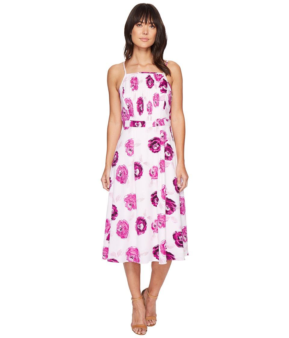 kensie - Garden Roses Midi Dress KS4K7970 (Bright Purple Combo) Women's Dress
