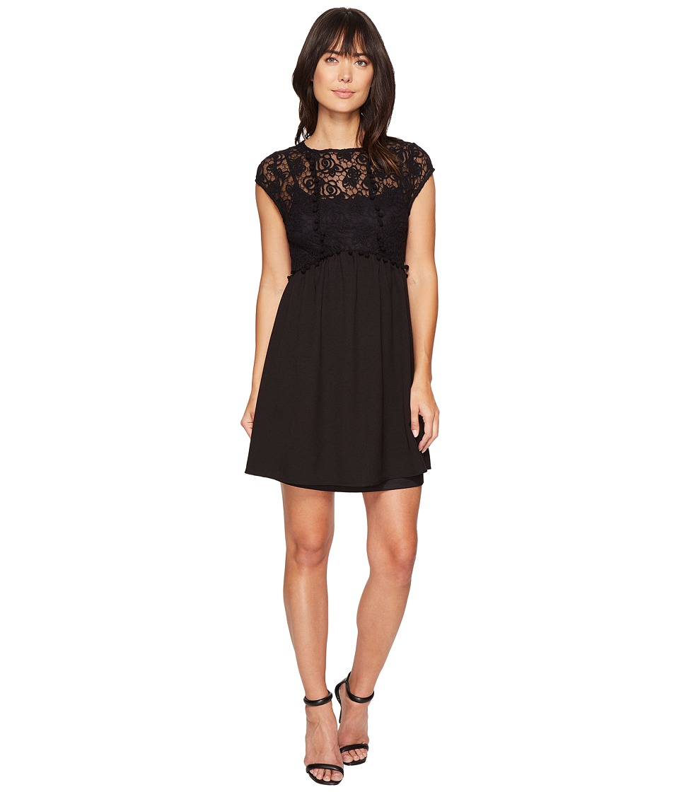 kensie - Lace Netting Dress KS4K7904 (Black) Women's Dress