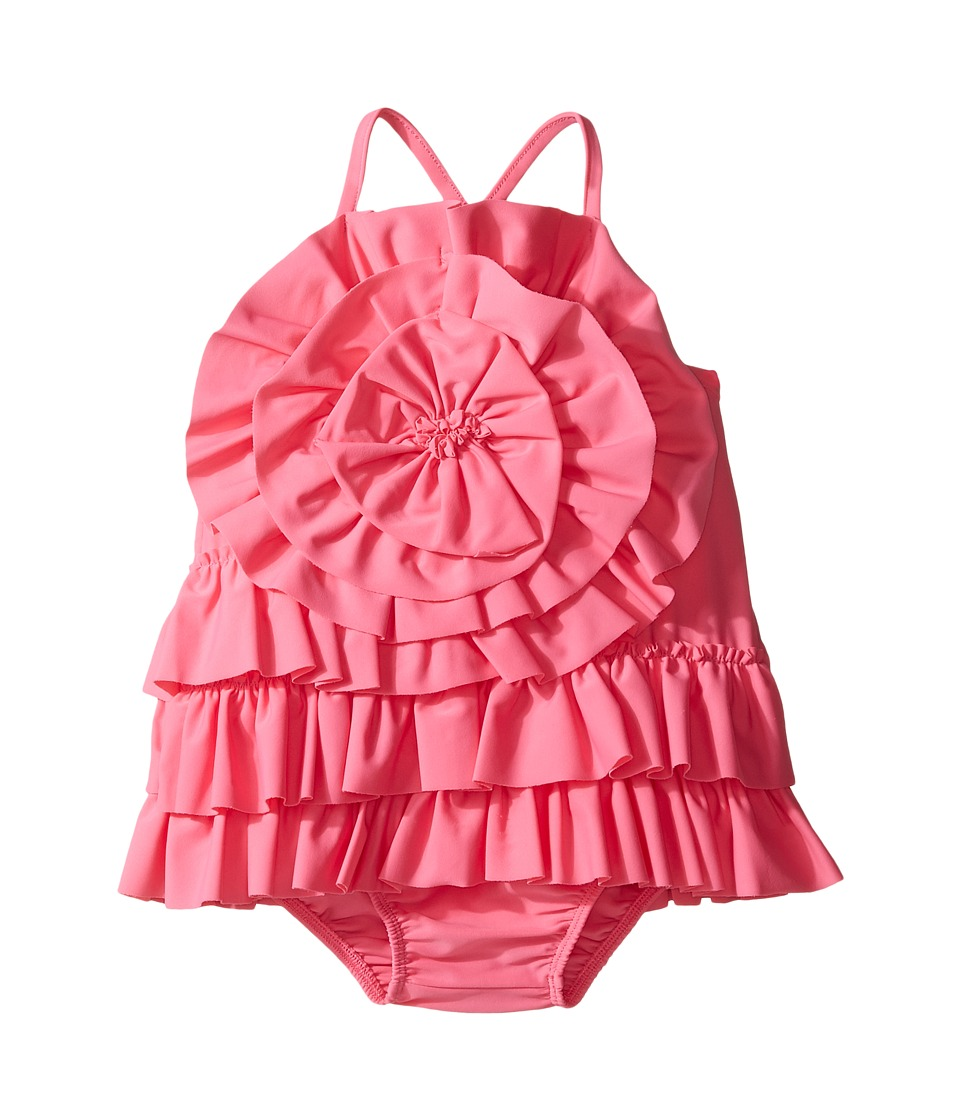 Mud Pie - Ruffle Swimsuit (Infant/Toddler) (Pink) Girl's Swimsuits One Piece