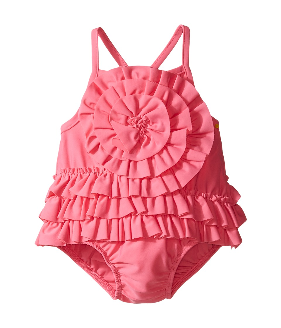 Mud Pie - Ruffle Swimsuit (Infant) (Pink) Girl's Swimsuits One Piece